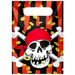 Jolly Roger Pirate Plastic Party Bags