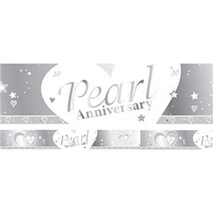 30th Pearl Wedding Anniversary Banner - 2.7m