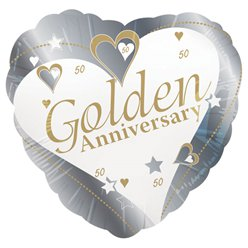 "Loving Hearts Golden Anniversary Balloon - 18"" Foil"