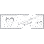Loving Hearts Engagement Giant Deep Banner - 1.5m x 0.5m