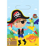 Little Pirate Party Bags - Plastic Loot Bags