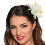 White Hibiscus Flower Hair Accessory