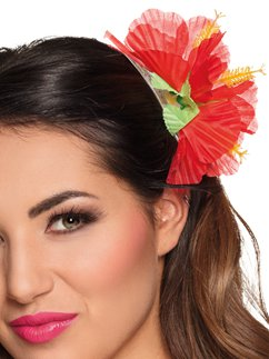 Hair accessory Hibiscus red (Luau Accessories)