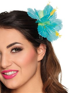 Turquoise Flower Hair Clip