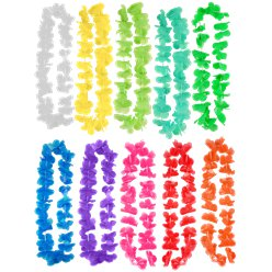 Hawaiian Hula Lei - 10 Pack Assorted Colours