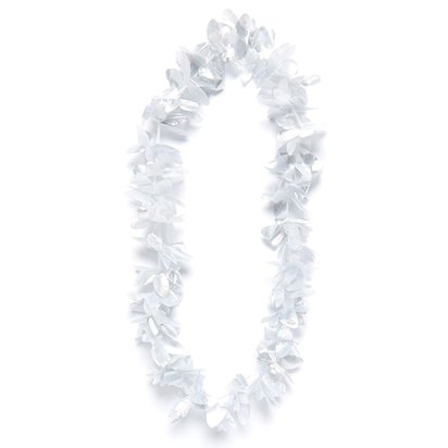 Silver Hawaiian Lei Garland - Summer Party Supplies front