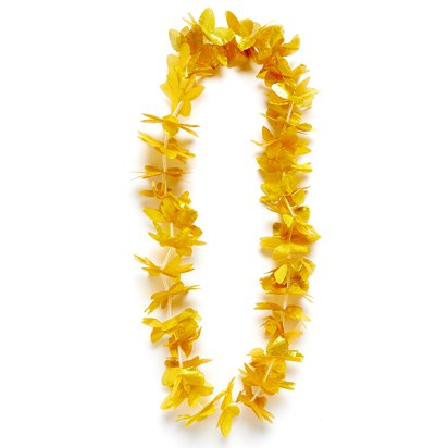 Gold Hawaiian Lei Garland - Summer Party Supplies front