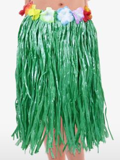 Child's Hula Grass Skirt - Green