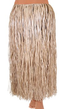 Adult Hula Grass Skirt - Natural
