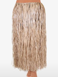 Natural Hawaiian Grass Skirt - Adult
