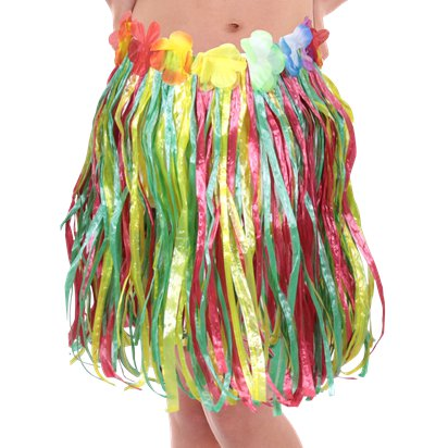 Child's Hula Grass Skirt - Multi front