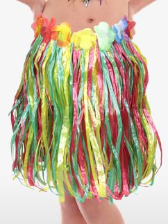 Multicoloured Hawaiian Grass Skirt - Child