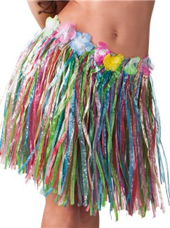 Multicoloured Hawaiian Skirt