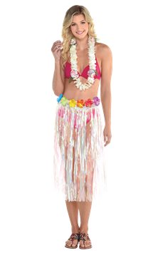 Adult Iridescent Grass Skirt (Luau Accessories)