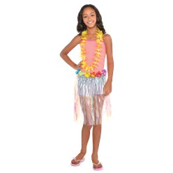 Iridescent Hawaiian Grass Skirt - Child