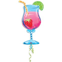 "Tropical Cooler Cocktail Shaped Balloon - 35"" Foil"