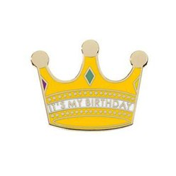 Luxe Crown Enamel Birthday Pinbadge