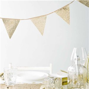 Gold Glitter Bunting - 3m