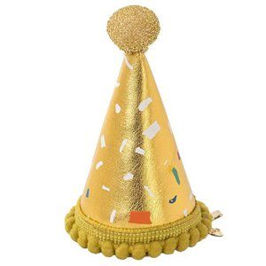 Luxe Gold Mini Fabric Hat