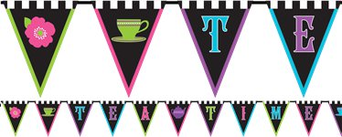 Mad Tea Party Bunting - 3m