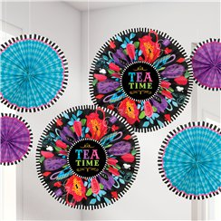 Mad Tea Party Paper Fan Decorations