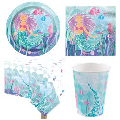 Magical Mermaid Party Pack - Value Pack For 8