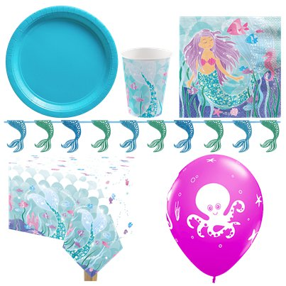 Magical Mermaid Party Pack - Deluxe Pack For 8