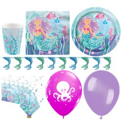 Magical Mermaid Party Pack - Deluxe Pack For 16