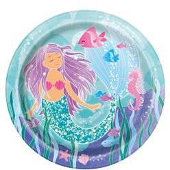 Magical Mermaid Paper Plates - 22cm