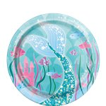 Magical Mermaid Paper Plates - 17cm