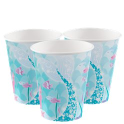 Magical Mermaid Paper Cups - 270ml