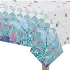 Magical Mermaid Plastic Tablecover - 1.4m x 2.1m