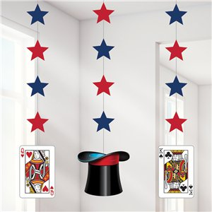 Magic Party Star Hanging Cutouts - 91cm