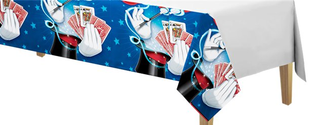 Magic Party Plastic Tablecover -1.4m x 2.6m