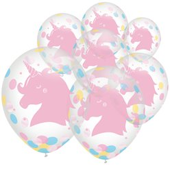 Magical Rainbow Confetti Balloons - 12