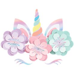 Magical Rainbow Unicorn Wall Decorating Kit