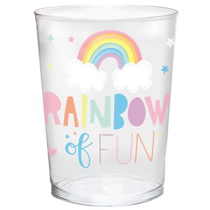 Magical Rainbow Plastic Gift Cup - 473ml