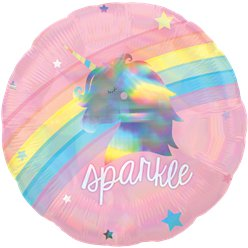 "Magical Rainbow Holographic Balloon - 18"" Foil"