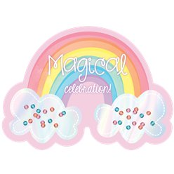 Magical Rainbow Party Invitation Cards