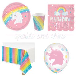 Magical Rainbow Party Pack - Deluxe Pack For 8