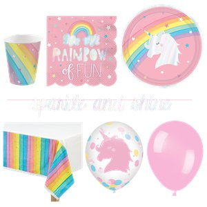 Magical Rainbow Party Pack - Deluxe Pack For 16