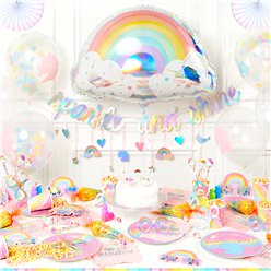 Magical Rainbow Super Deluxe Party Kit - For 8