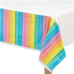 Magical Rainbow Plastic Tablecover - 1.4m x 2.4m