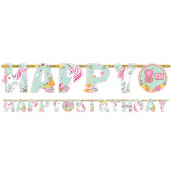 Magical Unicorn Letter Banner - Add an Age Banner 3.2m