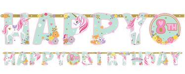 Magical Unicorn Letter Banner - Add an Age Banner - 3.2m