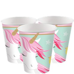 Magical Unicorn Paper Cups - 266ml