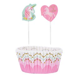Magical Unicorn Cupcake Cases & Picks