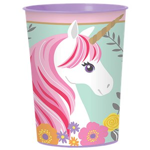 Magical Unicorn Plastic Favour Cup - 452ml