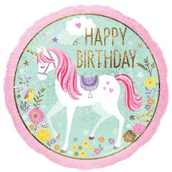 "Magical Unicorn 'Happy Birthday' Balloon - 18"" Foil"