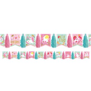Magical Unicorn Glitter Tassel Garland - 3m